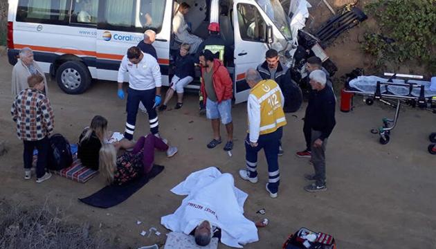 У ДТП в Туреччині постраждали десять українських туристів