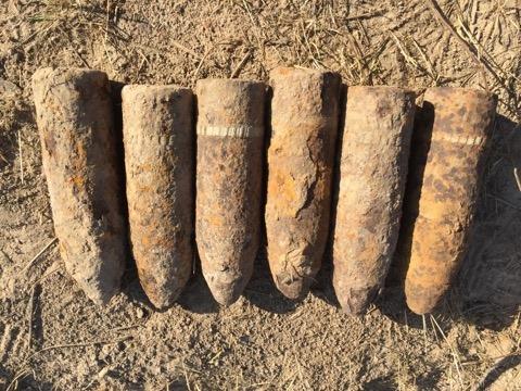 На Волині під час проведення земляних робіт виявили шість боєприпасів