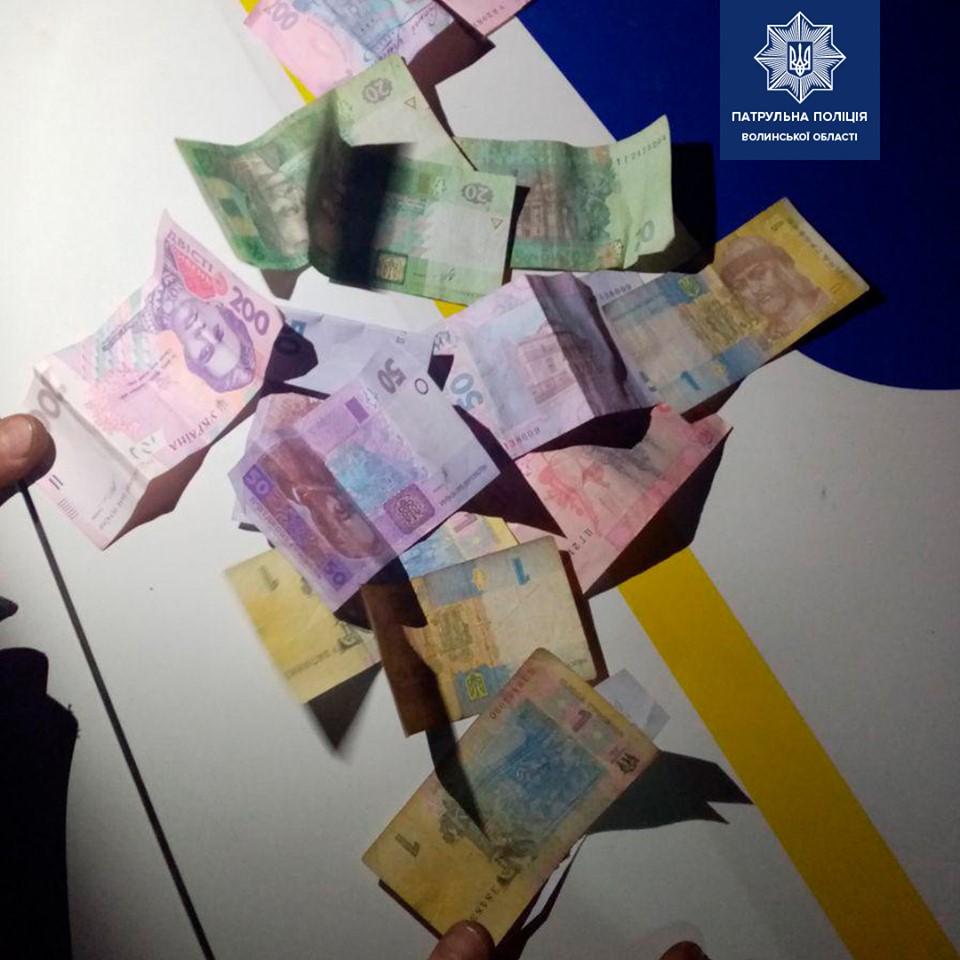 У Луцьку затримали водія ознаками наркосп'яніння, який пропонував патрульним хабар. ФОТО