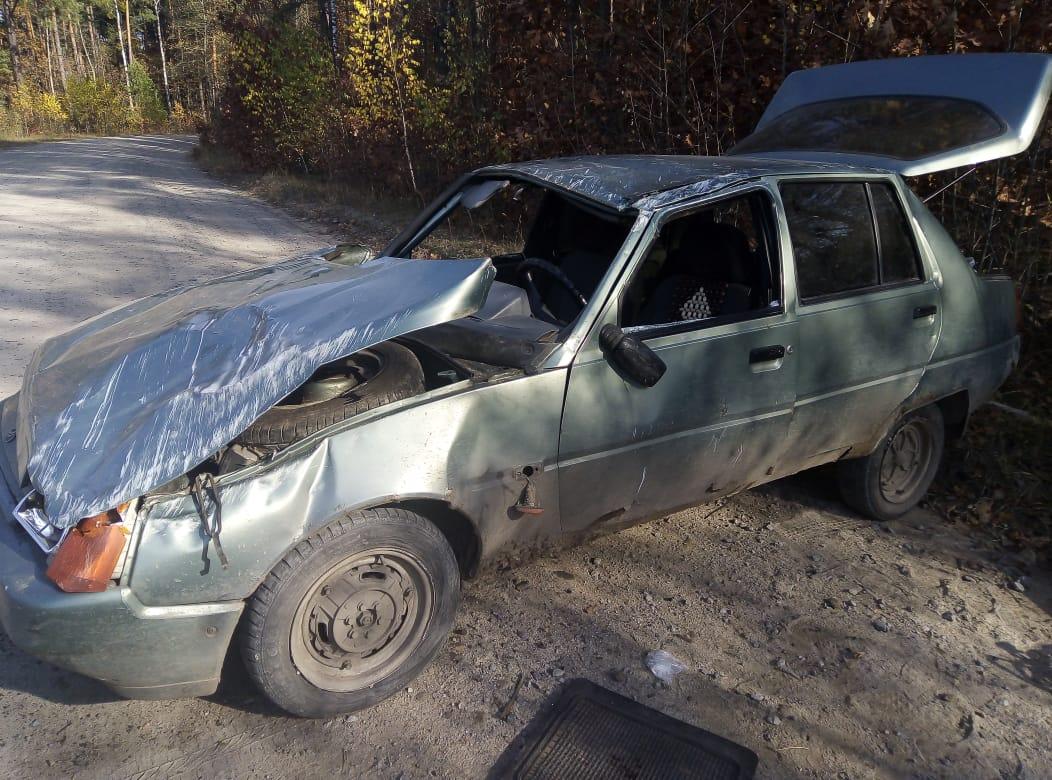 На Волині під час ДТП перекинувся автомобіль