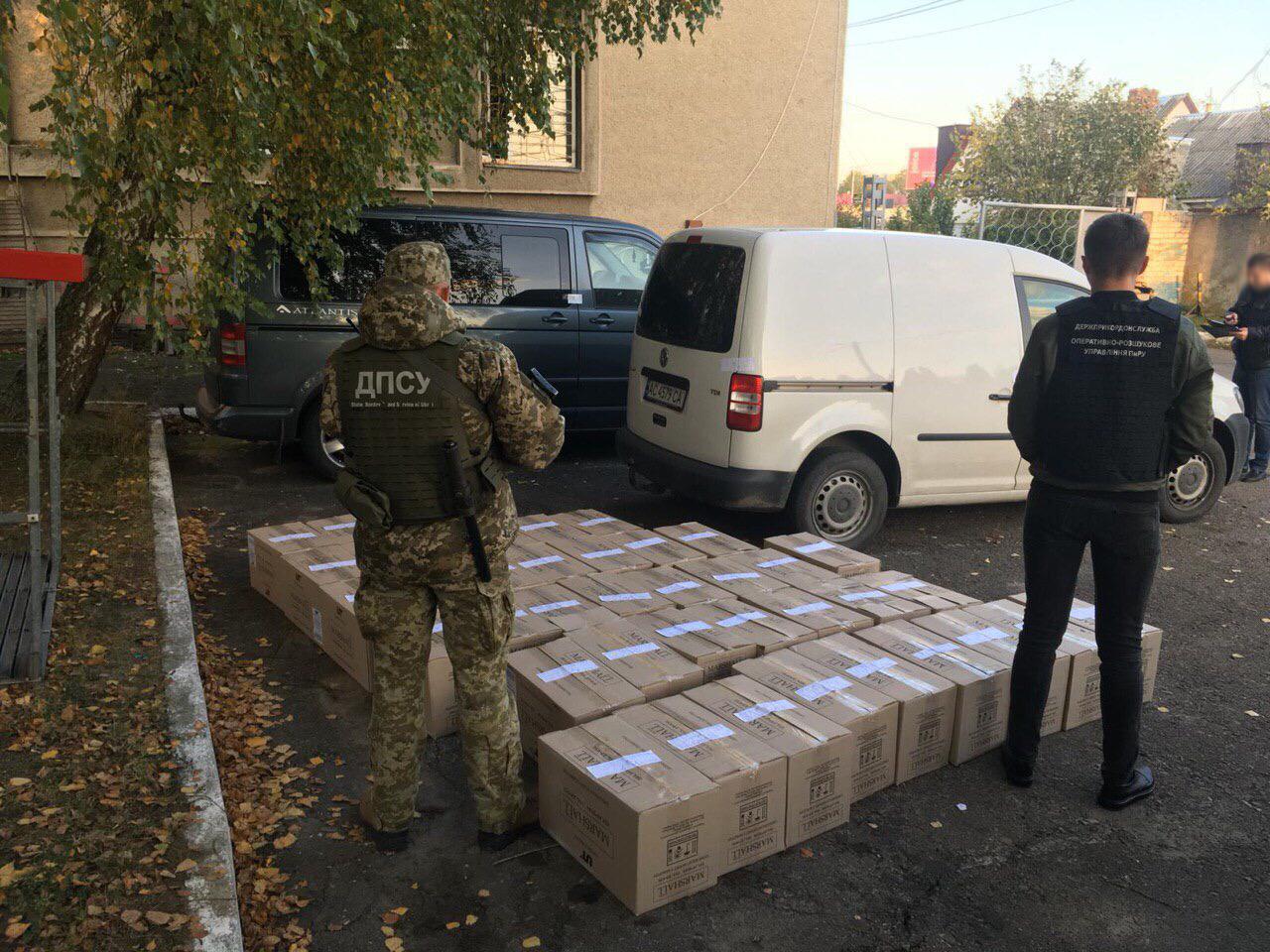 Волинські прикордонники вилучили цигарок на пімільйона гривень. ВІДЕО