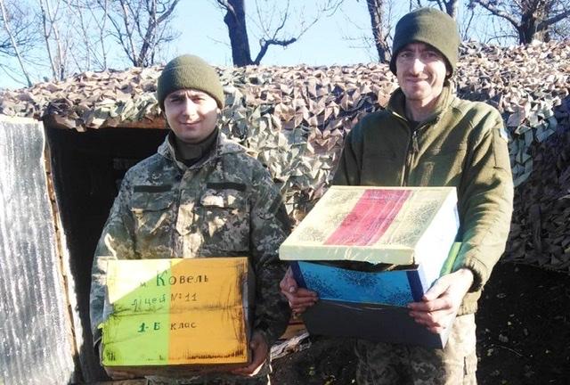 Військовослужбовці 14-ї механізованої бригади отримали подарунки від дітей
