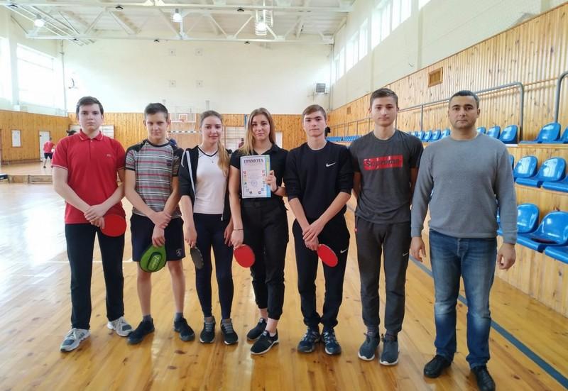Ковельські студенти – переможці змагань з настільного тенісу