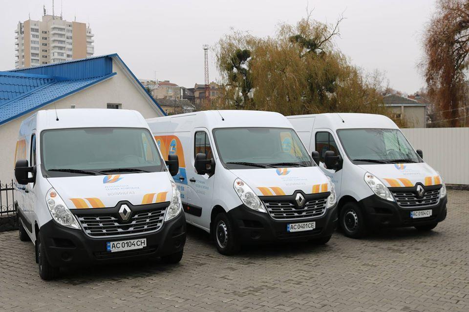 Автопарк компанії «Волиньгаз» поповнили нові автомобілі