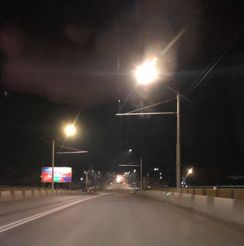 На вулиці Рівненській у Луцьку встановили понад 370 LED-ліхтарів