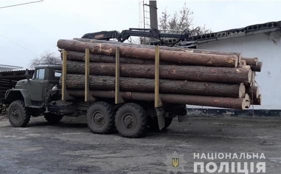 На Волині спіймали автомобіль, що з незаконною деревиною прямував до пилорами