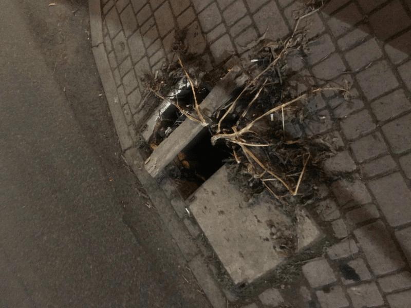 Лучани скаржаться на відкритий люк поблизу центра міста