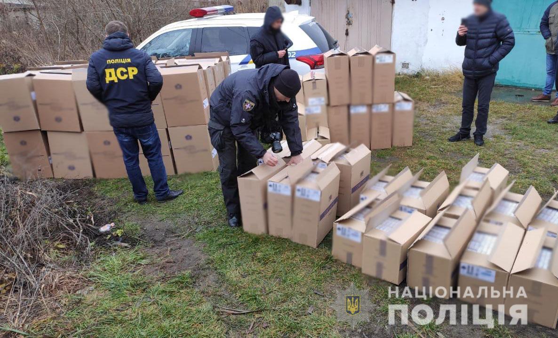 На Волині поліція перекрила канал незаконного експорту тютюнових виробів до країн ЄС