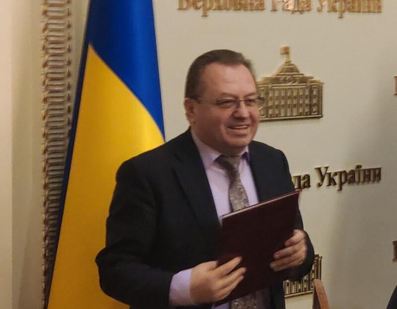 Григорія Пустовіта нагородили Почесною Грамотою Верховної Ради України