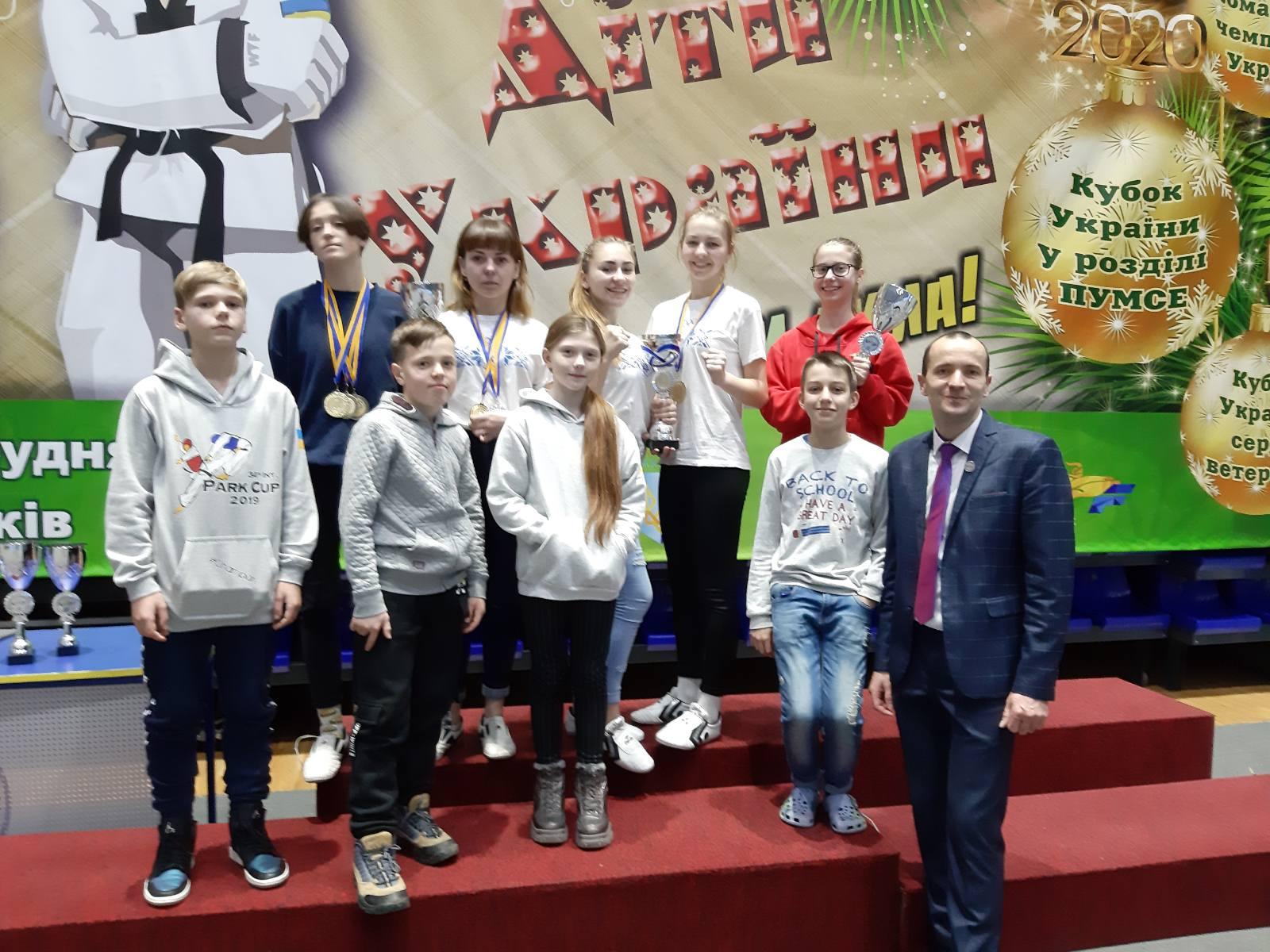 Волинські спортсмени вибороли призові місця на кубку України із тхеквондо