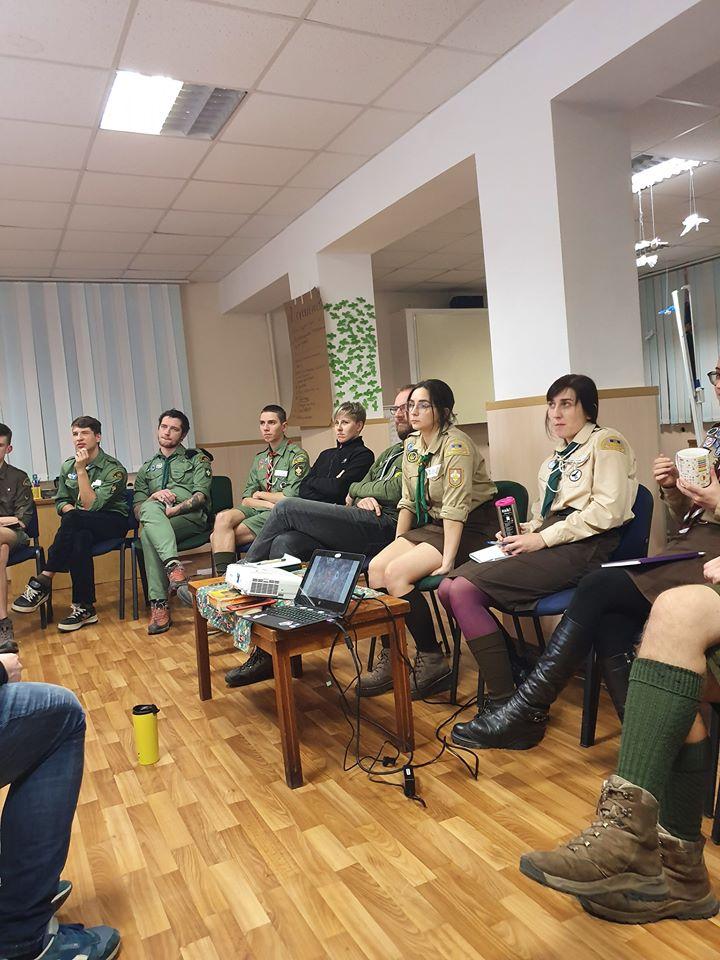 У Луцьку завершився перший день пластового всеукраїнського вишколу впорядників