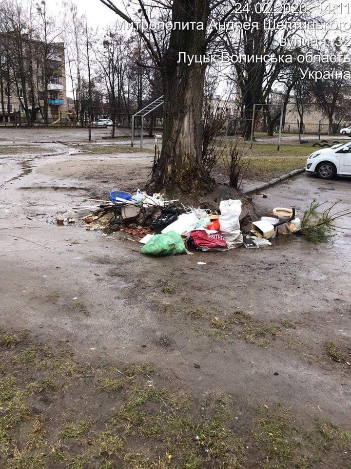 У Луцьку виявили низку стихійних смітників