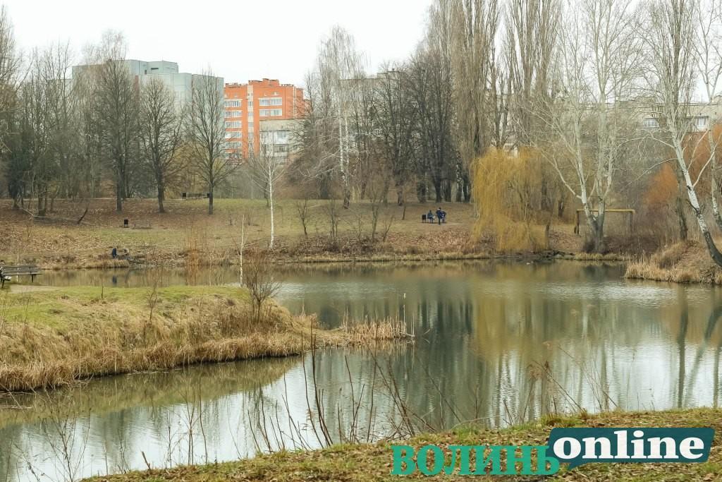 Луцький парк у перший день весни. ФОТОРЕПОРТАЖ