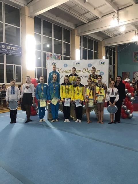 Волинські акробатки здобули нагороди чемпіонату України