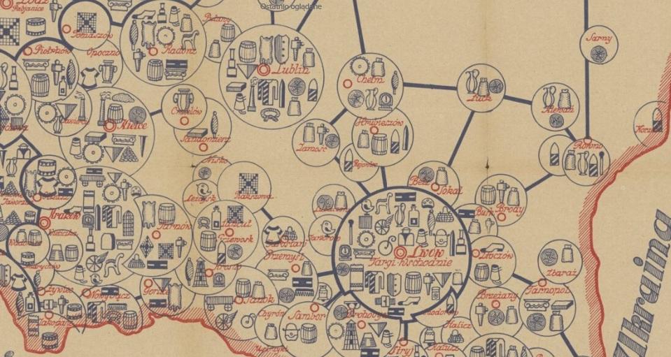 Луцьк на мапі промисловості міжвоєнної Польщі. ФОТО