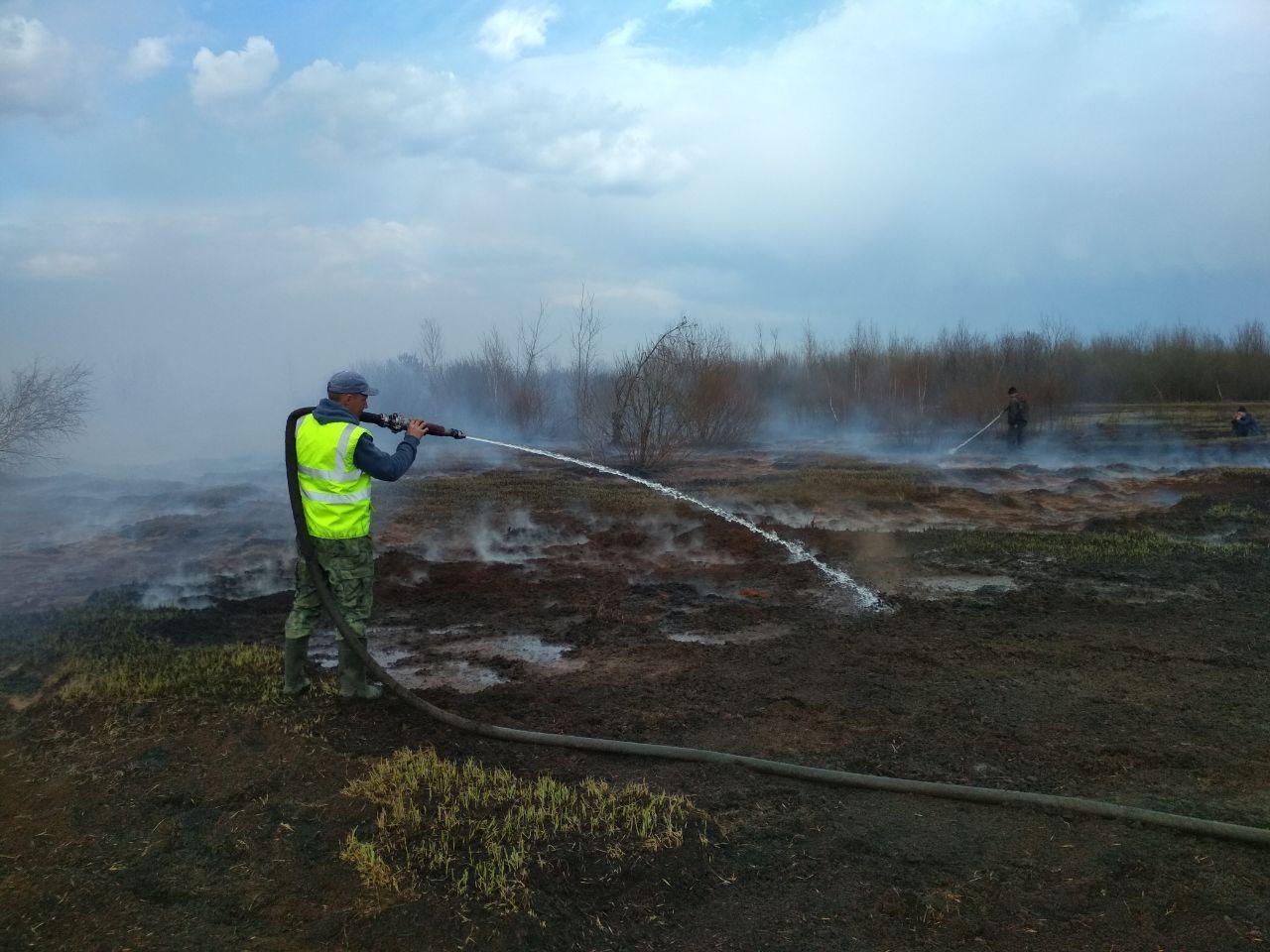 На Волині вогнеборці продовжують ліквідовувати пожежі торфовищ
