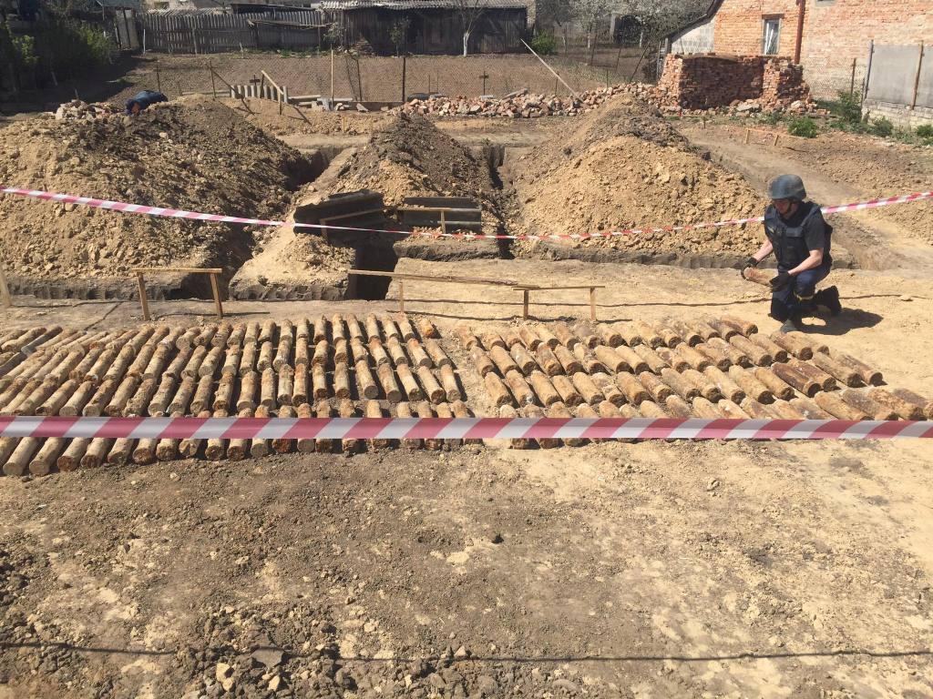 У райцентрі на Волині знайшли 175 снарядів часів Другої Світової війни