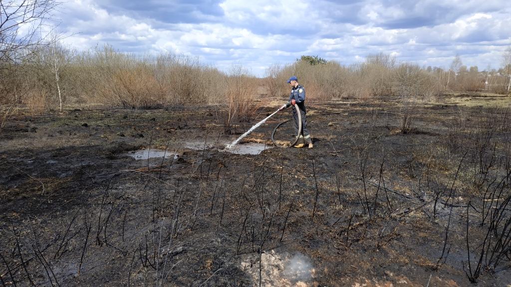 На Волині продовжують гасити пожежі на торфовищах