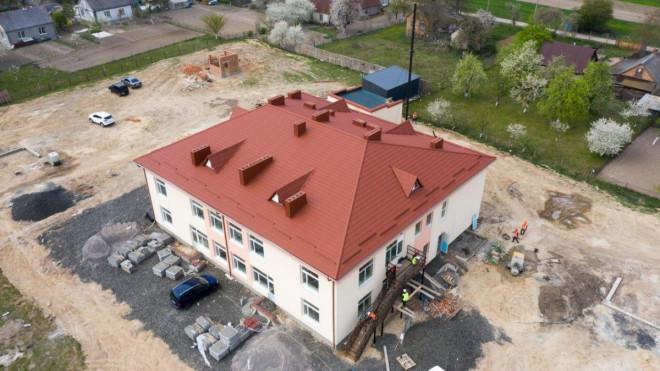 У селі поблизу Луцька триває будівництво дитячого садка