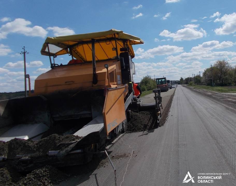 На Волині триває ремонт ділянки міжнародного автошляху