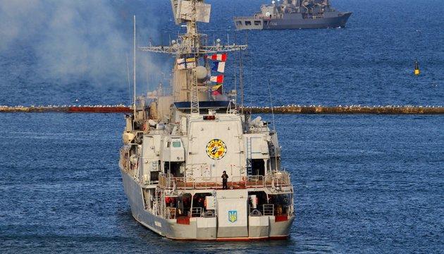 Фрегат «Гетьман Сагайдачний» провів стрільби у Чорному морі. ВІДЕО