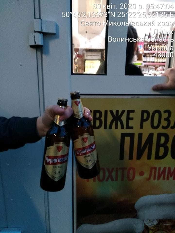Муніципали у Луцьку виявили факти продажу алкоголю в заборонений час