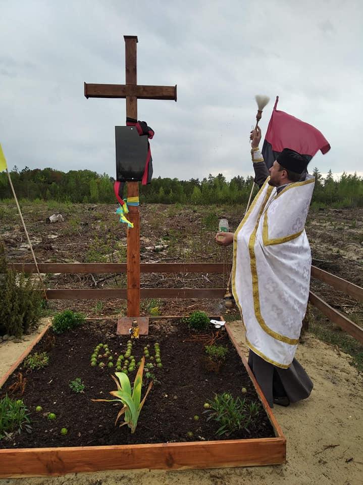 На Волині освятили хрест на могилі вояків УПА
