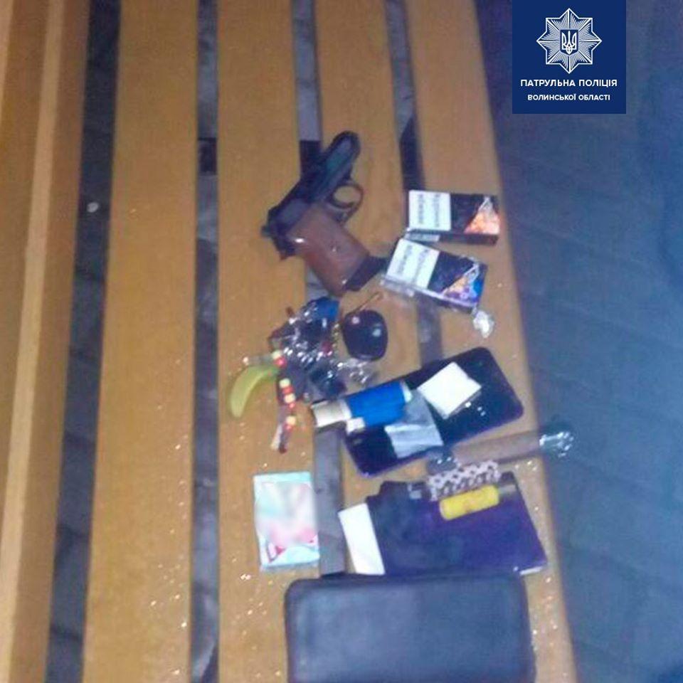 У Луцьку патрульні вилучили у двох осіб заборонені речі