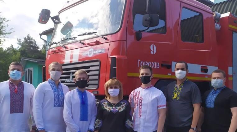 Волинські рятувальники долучилися до відзначення Дня вишиванки