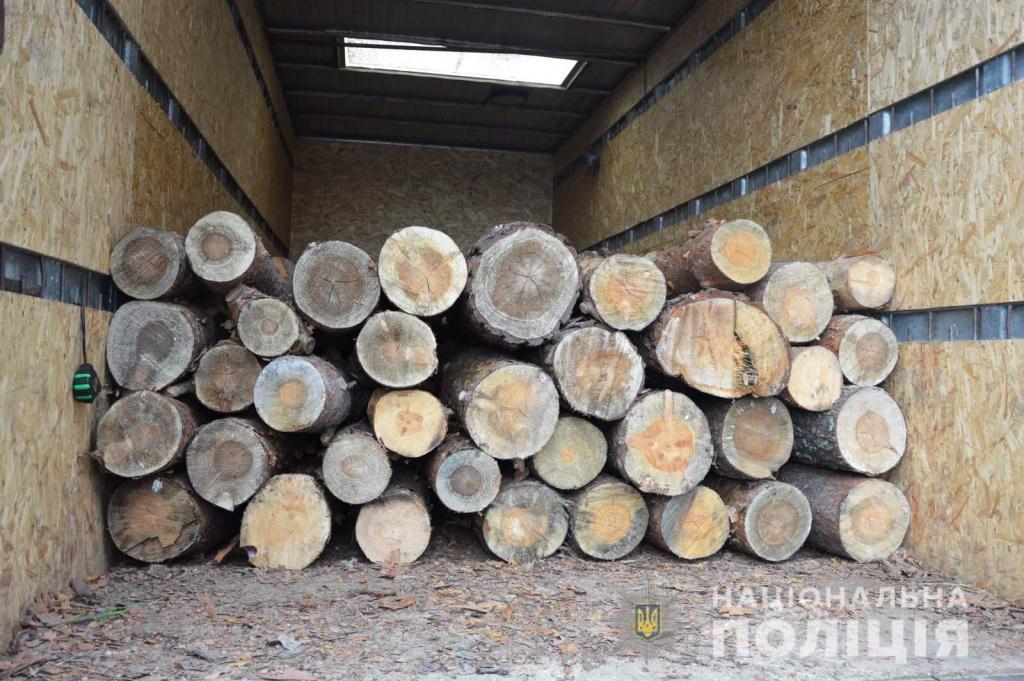 На Волині затримали вантажівку з лісом без відповідних документів
