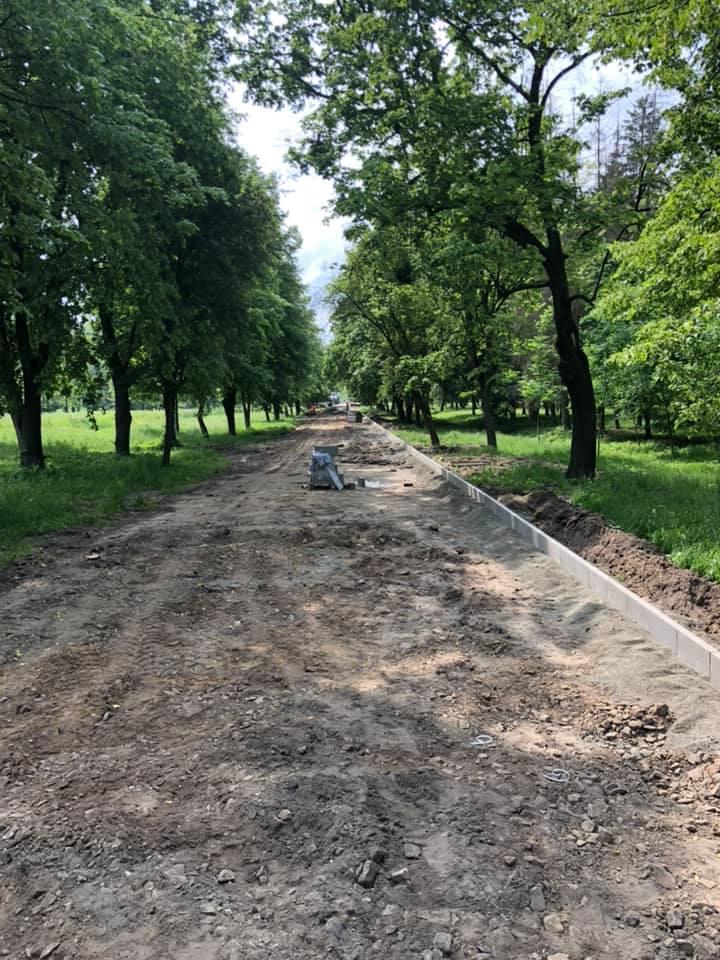 У центральному парку Луцька розпочали ремонтні роботи