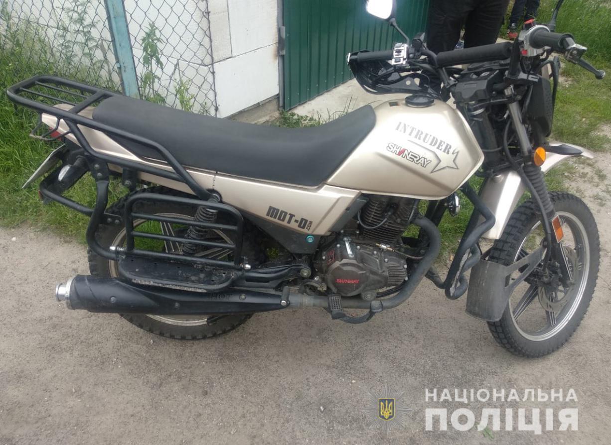 У Камені-Каширському районі поліцейські затримали викрадача мотоцикла