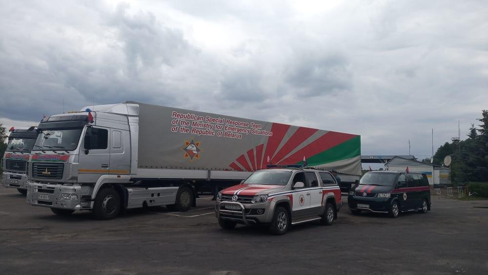 Білорусь передала гуманітарну допомогу для ліквідації наслідків негоди у Західній Україні