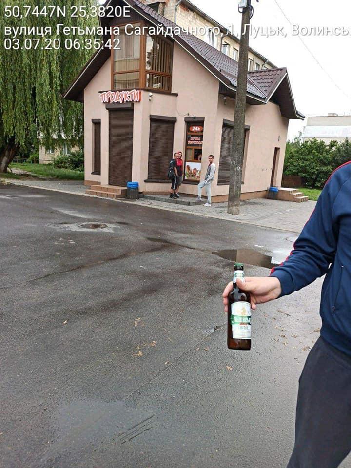 У Луцьку виявили факт продажу пива в заборонений час