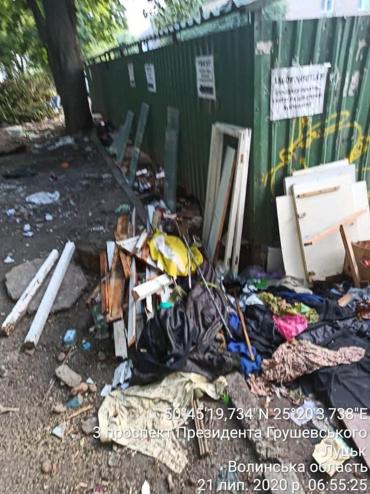 У Луцьку муніципали посилять чергування на локаціях масового викидання сміття