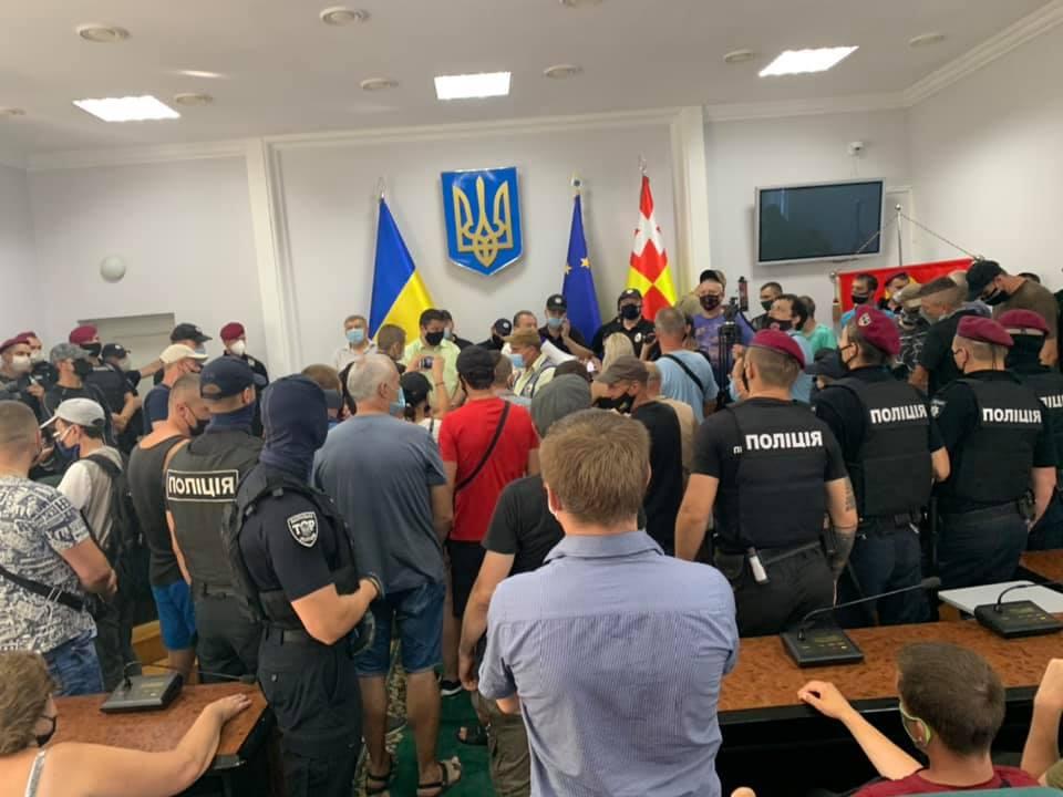 У стінах Луцькради – акція протесту