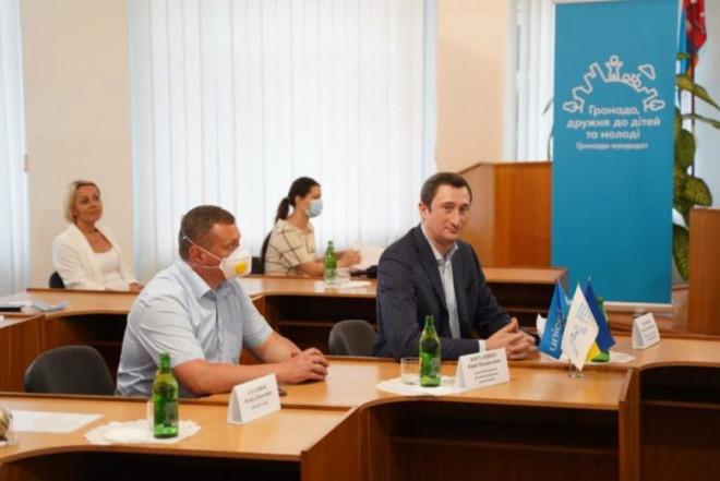 Міністр ознайомився з успіхами Володимира-Волинського у реалізації ініціативи ЮНІСЕФ