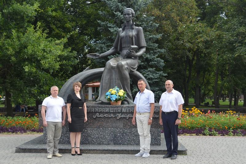 У місті на Волині вшанували пам'ять Лесі Українки