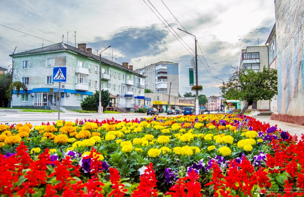 На вулицях волинського міста висадили понад 100 тисяч квітів