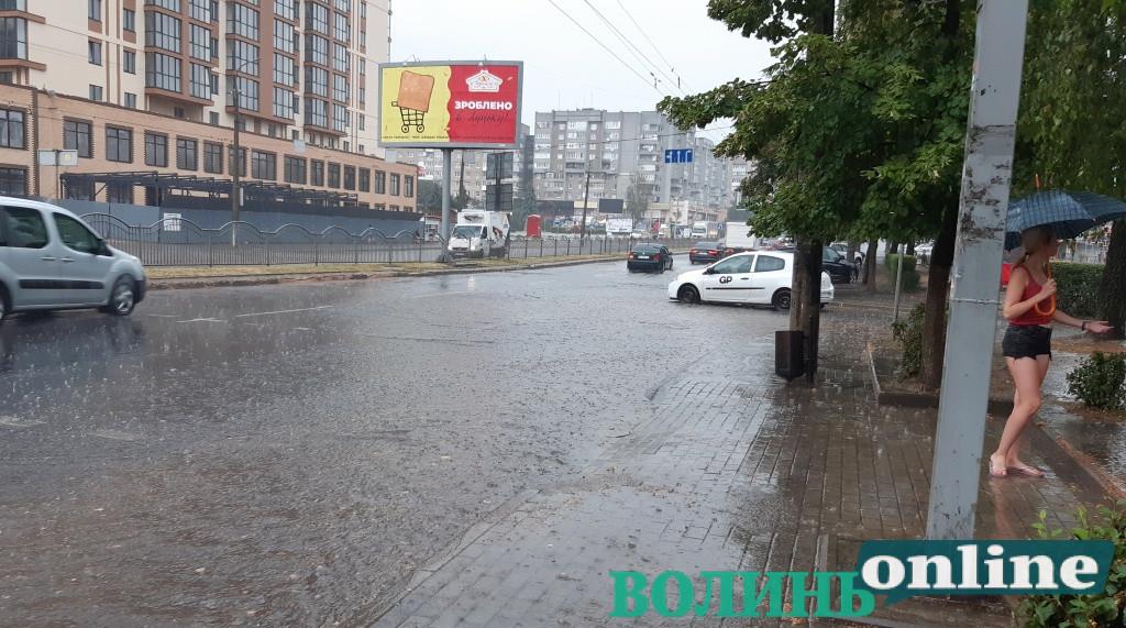 У Луцьку – потужна злива. ФОТО