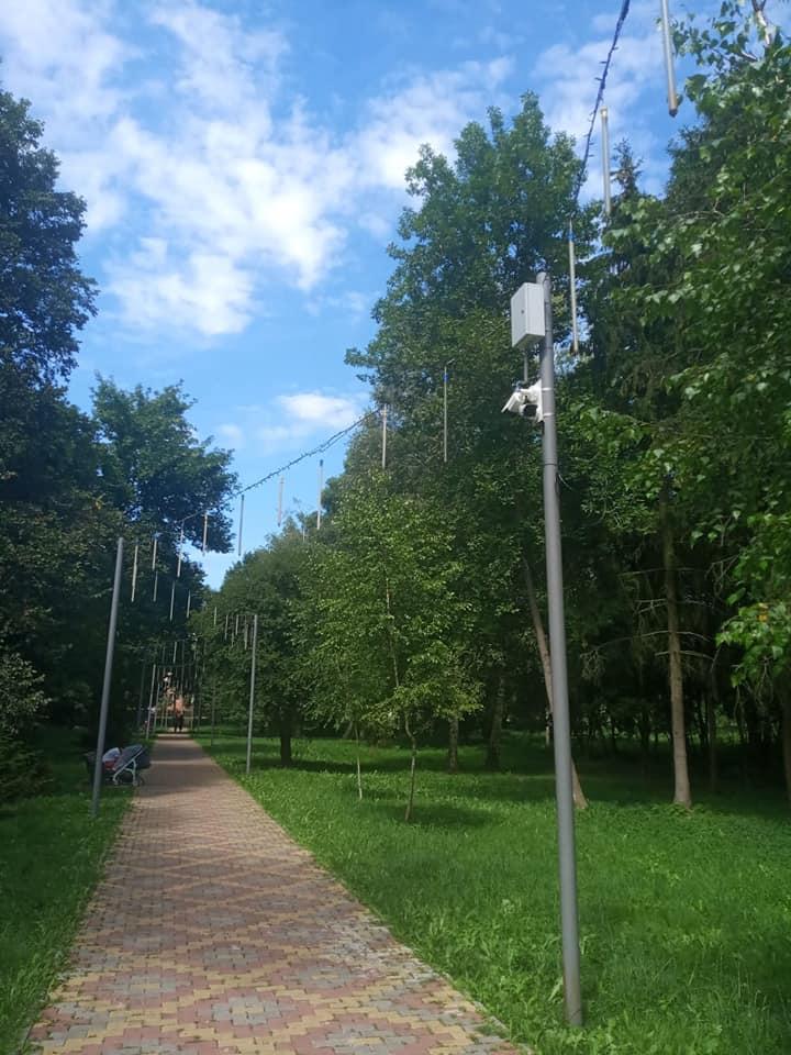 У центральному парку Луцька тестують камери відеоспостереження