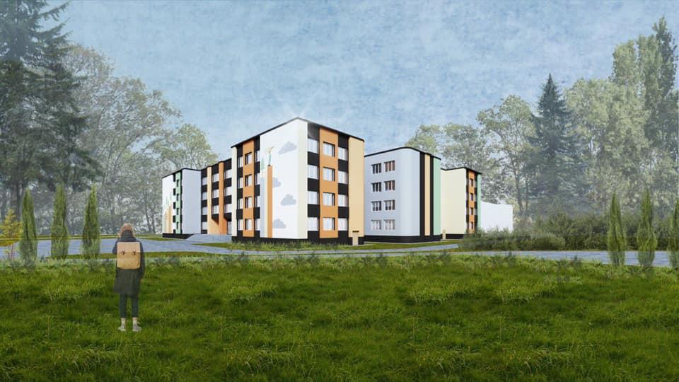 Розробили новий дизайн фасаду школи у Луцьку