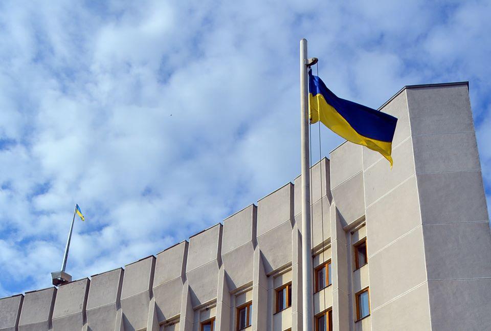 На Київському майдані у Луцьку урочисто підняли Державний Прапор України