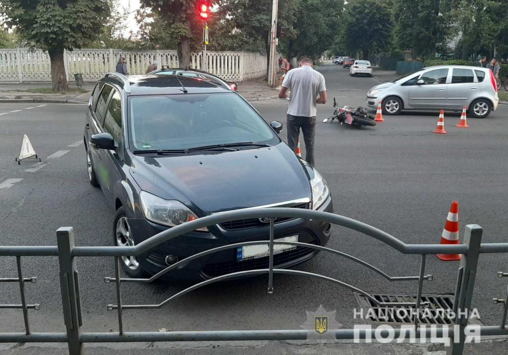 У ДТП у Луцьку постраждав мотоцикліст