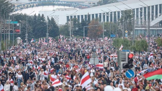 У центрі Мінська затримали понад 70 осіб