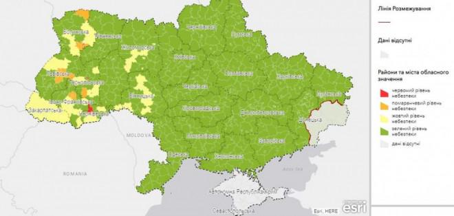 Райони та міста Волині потрапили у різні зони за рівнем поширення епідемічної небезпеки COVID-19