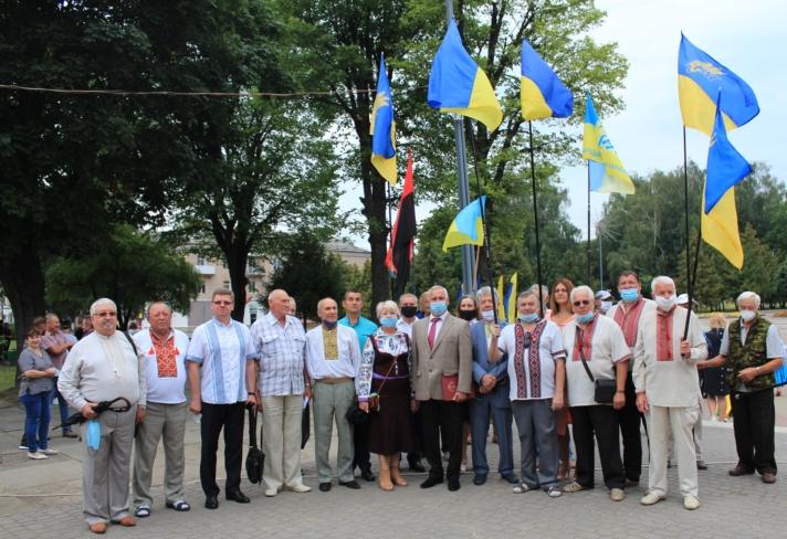Як у Нововолинську вшановували Державний Прапор України