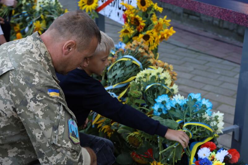 У Луцьку вшанували пам'ять захисників України та військовослужбовців, які загинули в АТО/ООС