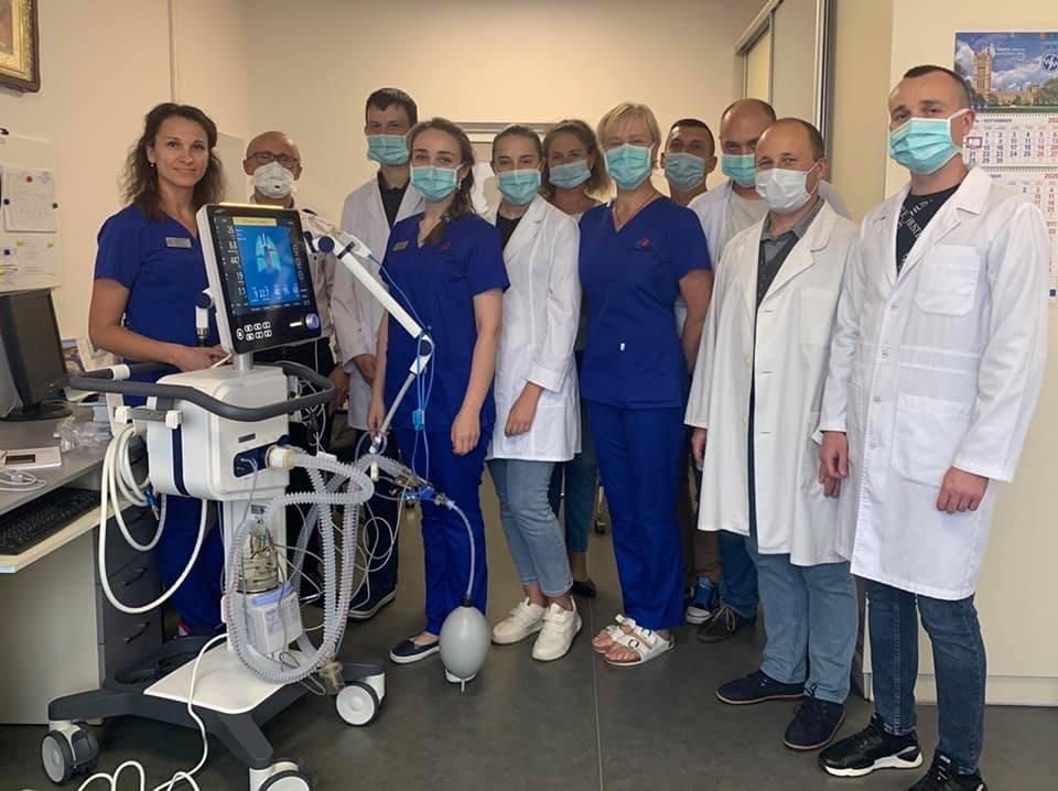 Ковельське МТМО придбало сучасний апарат штучної вентиляції легень експертного класу