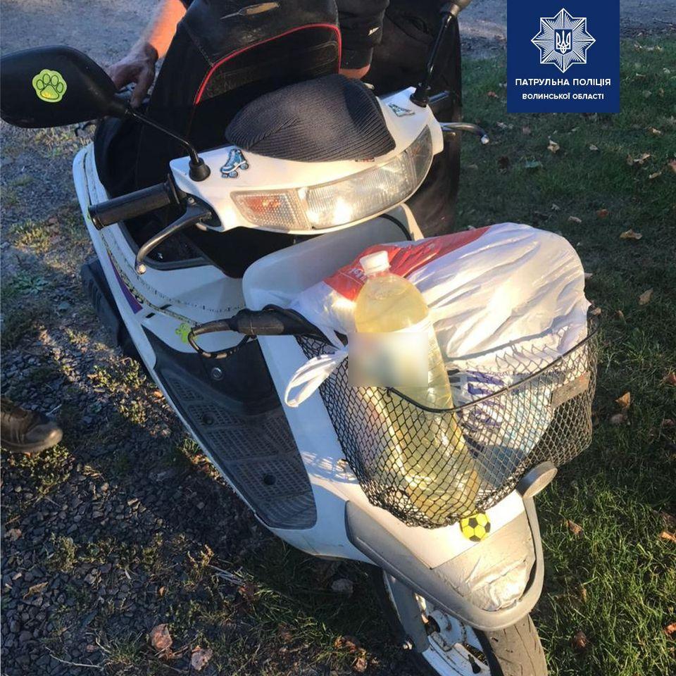 2,17 проміле алкоголю: на Волині затримали нетверезого мотоцикліста без номерів
